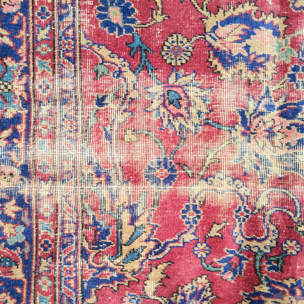 Turkish Rug, 9' 2 x 11' 7 Red Purple Sparta