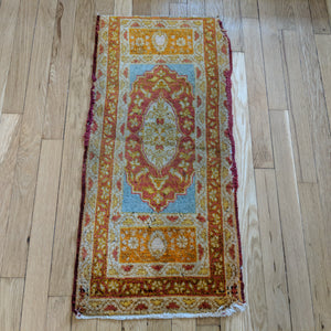 Turkish Rug, 1' 5 x 2' 11 Antique Yastik