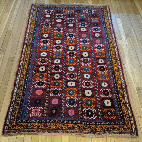 Persian Rug, 3' 8 x 6' Red Tribal - Jessie's Oriental Rugs