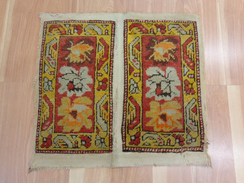 Turkish Collectible Rug, 1' 6 x 1' 5 Red