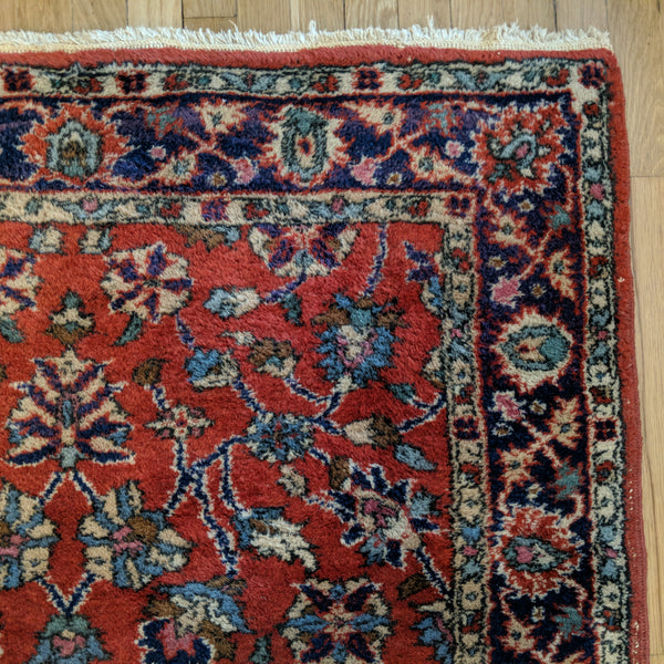 Turkish Rug, 3' 11 x 6' 10 Red Sparta