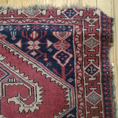 Turkish Rug, 2' 11 x 3' 9 Purple Sparta