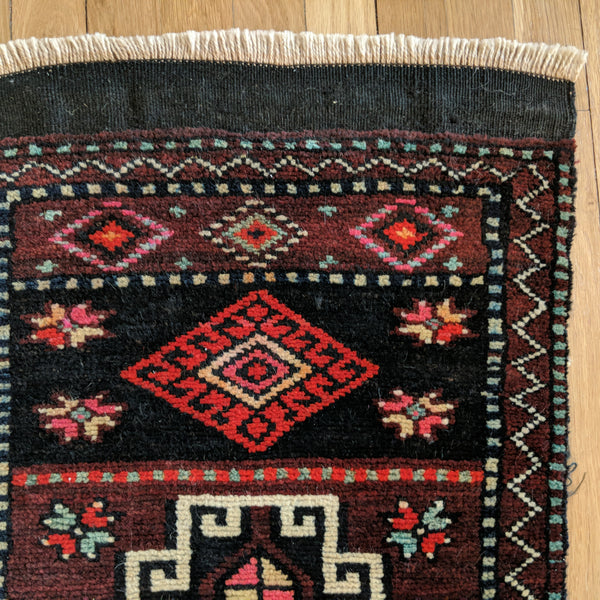 Turkish Rug, 1' 9 x 3' 2 Red Yastik - Jessie's Oriental Rugs