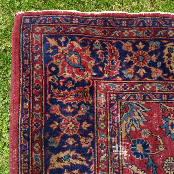 Turkish Rug, 9' 2 x 11' 7 Red Purple Sparta - Jessie's Oriental Rugs