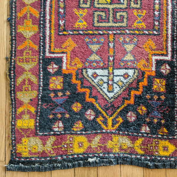 Turkish Rug, 1' 10 x 3' 4 Blue Yastik