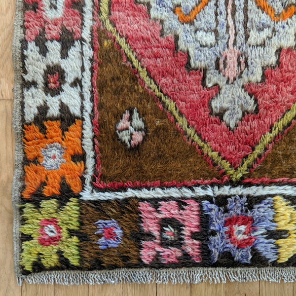 Turkish Rug, 2' 7 x 4' 2 Light Brown Tribal - Jessie's Oriental Rugs