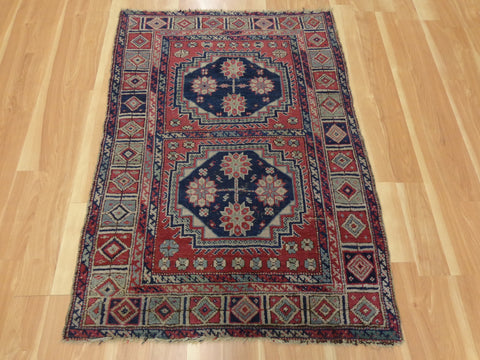 Turkish Rug, 3' 3 x 4' 7 Purple Sparta