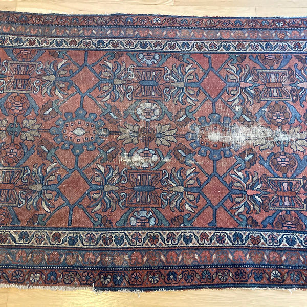 Vintage Rug, 3' 4 x 6' 1 Red Brown