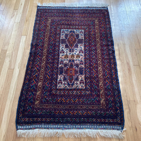 Baluch Rug, 2' 11 x 5' 2 Tribal