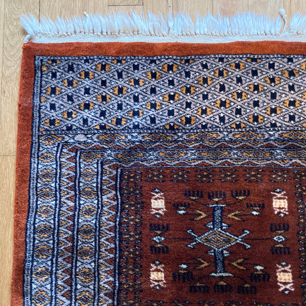 Pakistan Rug, 2' 1 x 3' 2 Brown