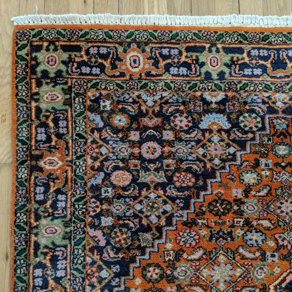 Indian Rug, 4' x 5' 10 Orange - Jessie's Oriental Rugs
