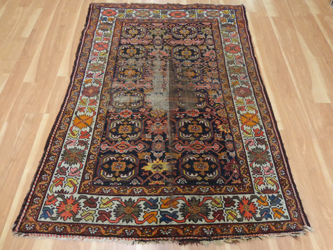 Persian Rug, 4' 6 x 6' 3 Brown Melayer