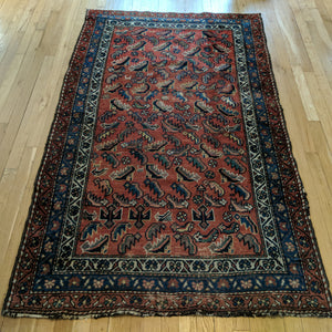 Vintage Rug, 3' 9 x 6' 3 Red Orange - Jessie's Oriental Rugs
