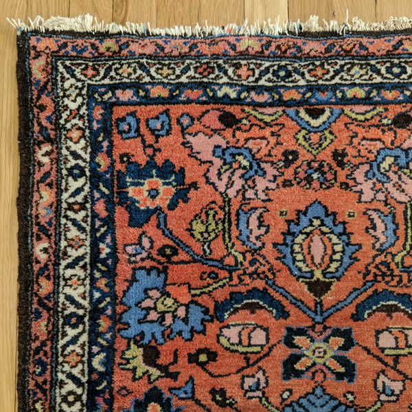 Persian Rug, 2' 7 x 3' 11 Light Brown Hamedan - Jessie's Oriental Rugs