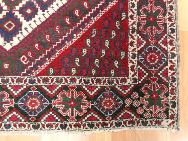 Persian Rug, 4' x 4' 11 Red Afshar - Jessie's Oriental Rugs