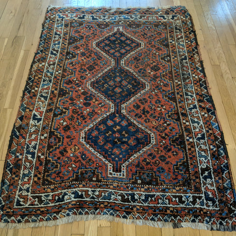 Vintage Rug, 3' 10 x 5' 9 Brown Tribal