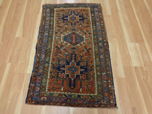 Persian Rug, 2' 7 x 4' 4 Light Brown Karaja
