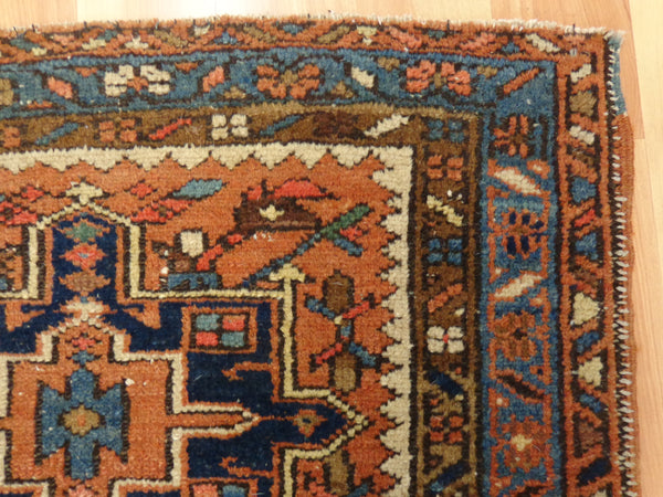 Persian Rug, 2' 7 x 4' 4 Light Brown Karaja - Jessie's Oriental Rugs