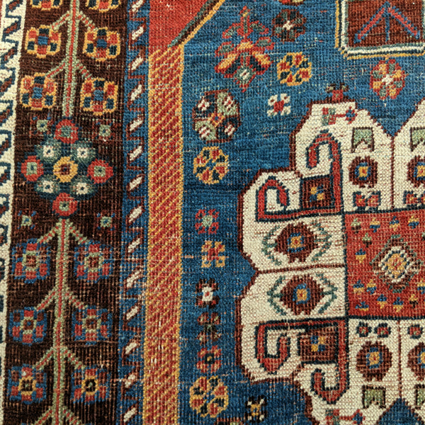 Persian Rug, 2' 11 x 4' 5 Red Qashqai - Jessie's Oriental Rugs