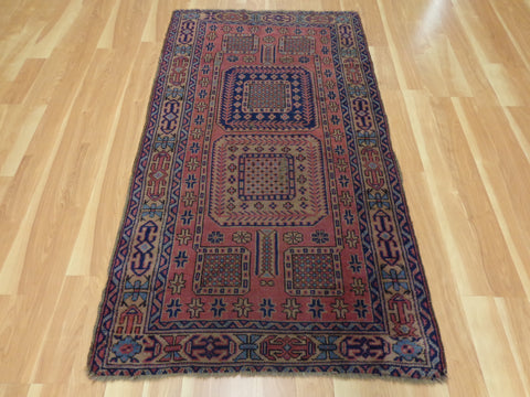 Turkish Rug, 3' 4 x 5' 10 Purple Sparta