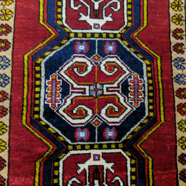 Persian Rug, 1' 9 x 3' 9 Red Tribal - Jessie's Oriental Rugs
