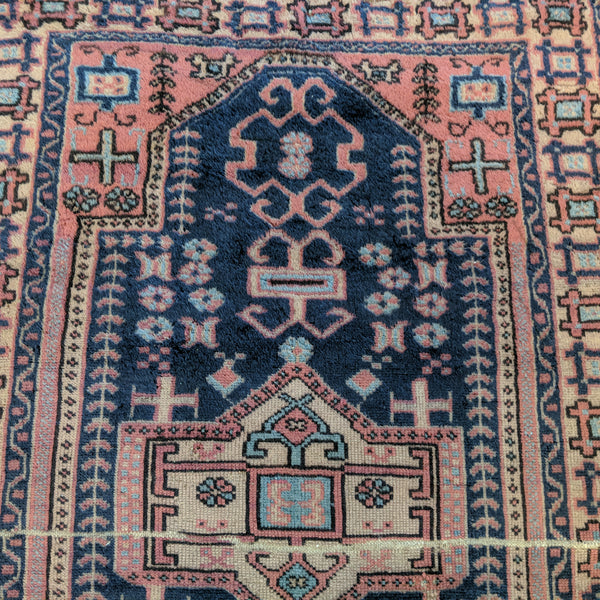 Turkish Rug, 3' 4 x 5' 8 Blue Sparta