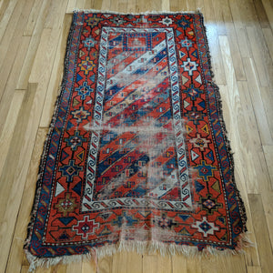 Antique Rug, 3' x 5' 2 Caucasian Prayer - Jessie's Oriental Rugs