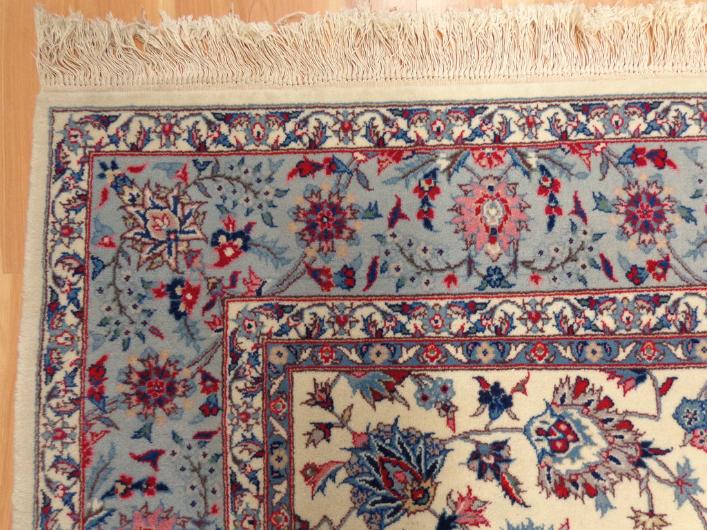 Persian Rug 5 10 X 9 5 Ivory White Isfahan Jessie S Oriental Rugs