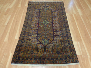 Tribal Rug, 3' 11 x 6' 8 Brown Baluch