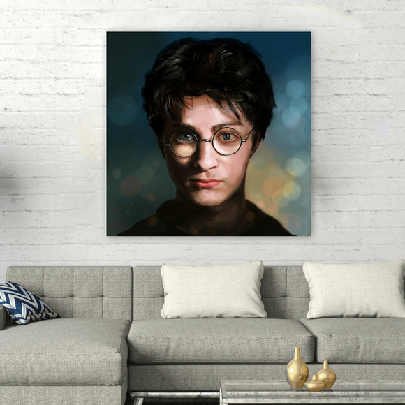 Square Harry Potter Series Painting on Canvas - Harry