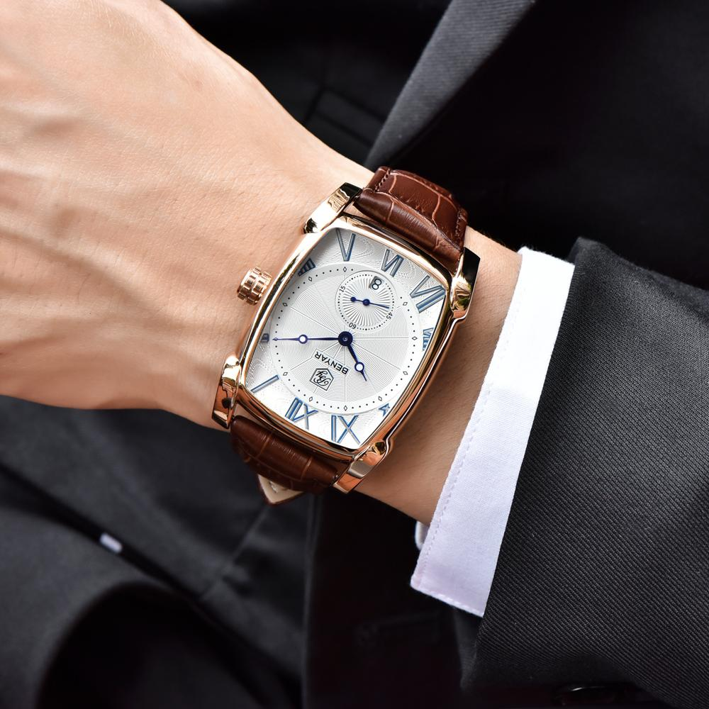 band simple business white watch civo amazon watches com leather wrist dp brown luxury men waterproof s design casual dial