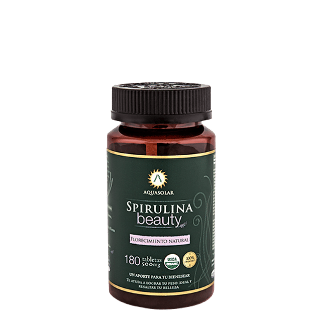 Spirulina Beauty 180 tabletas - Superalimentos - Mercado Silvestre