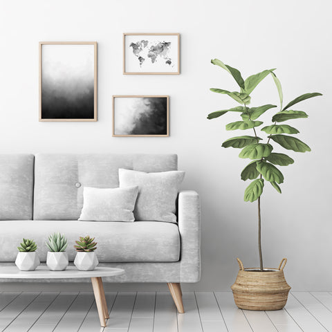 Minimalism Black and White Art Prints in Wooden Frames