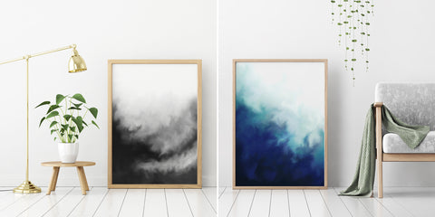 Abstract fluid paintings