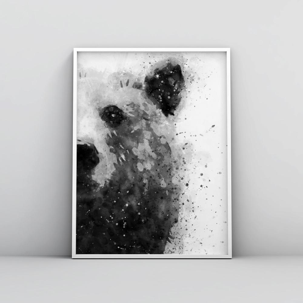 Black and white abstract bear painting poster animal prints timiko studio black and white abstract bear painting poster animal prints timiko studio
