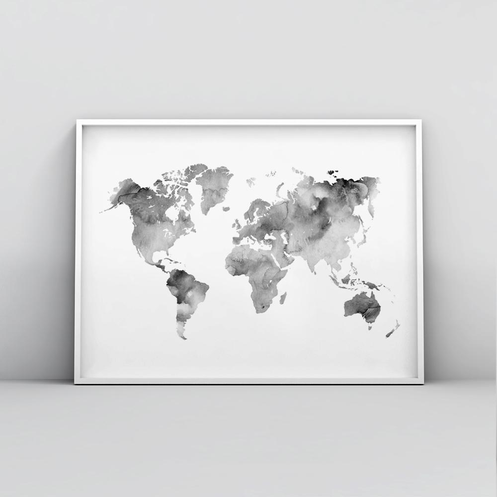 Silver grey watercolour world map poster timiko studio silver grey watercolour world map poster maps timiko studio silver grey watercolour world map poster maps timiko studio gumiabroncs Images