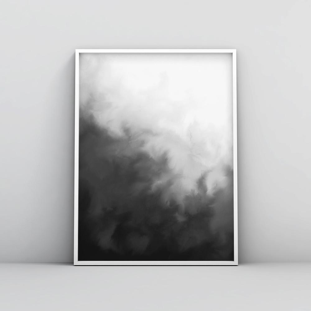 Modern black and white painting wall art poster 1 paintings timiko studio modern black and white painting wall art poster 1 paintings timiko studio