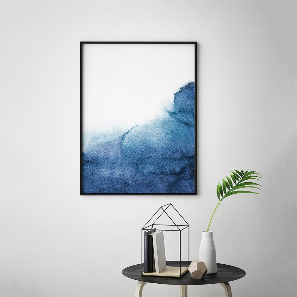 Minimalistic Navy Blue Painting Poster 1 Paintings - Timiko Studio