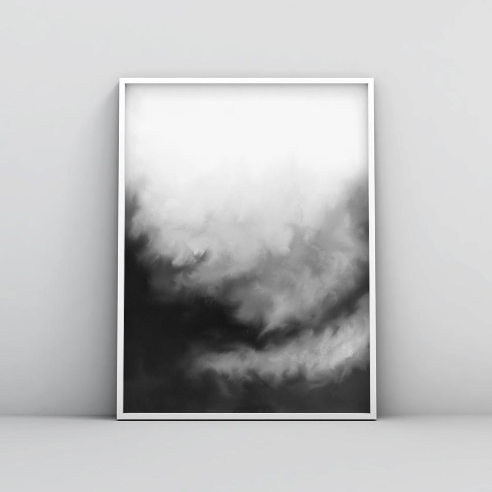 Modern black and white painting wall art poster 2 paintings timiko studio modern black and white painting wall art poster 2 paintings timiko studio