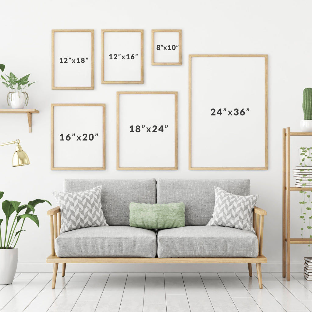 Scandinavian Geometric Line Art Poster Set Set of 2 Prints - Timiko Studio