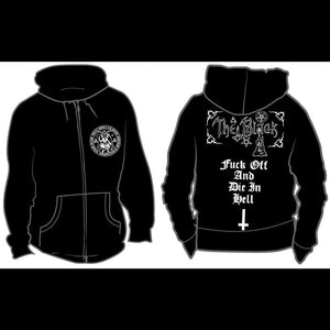 The Black - The priest of satan - Hooded Sweatshirt Zip