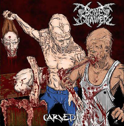 Bone Gnawer / The Skeletal - Carved / Remains - Split LP (limited to 166 hand numbered copies)