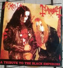 Morbid / Mayhem ‎- A Tribute To The Black Emperors - Split LP (red Vinyl!)