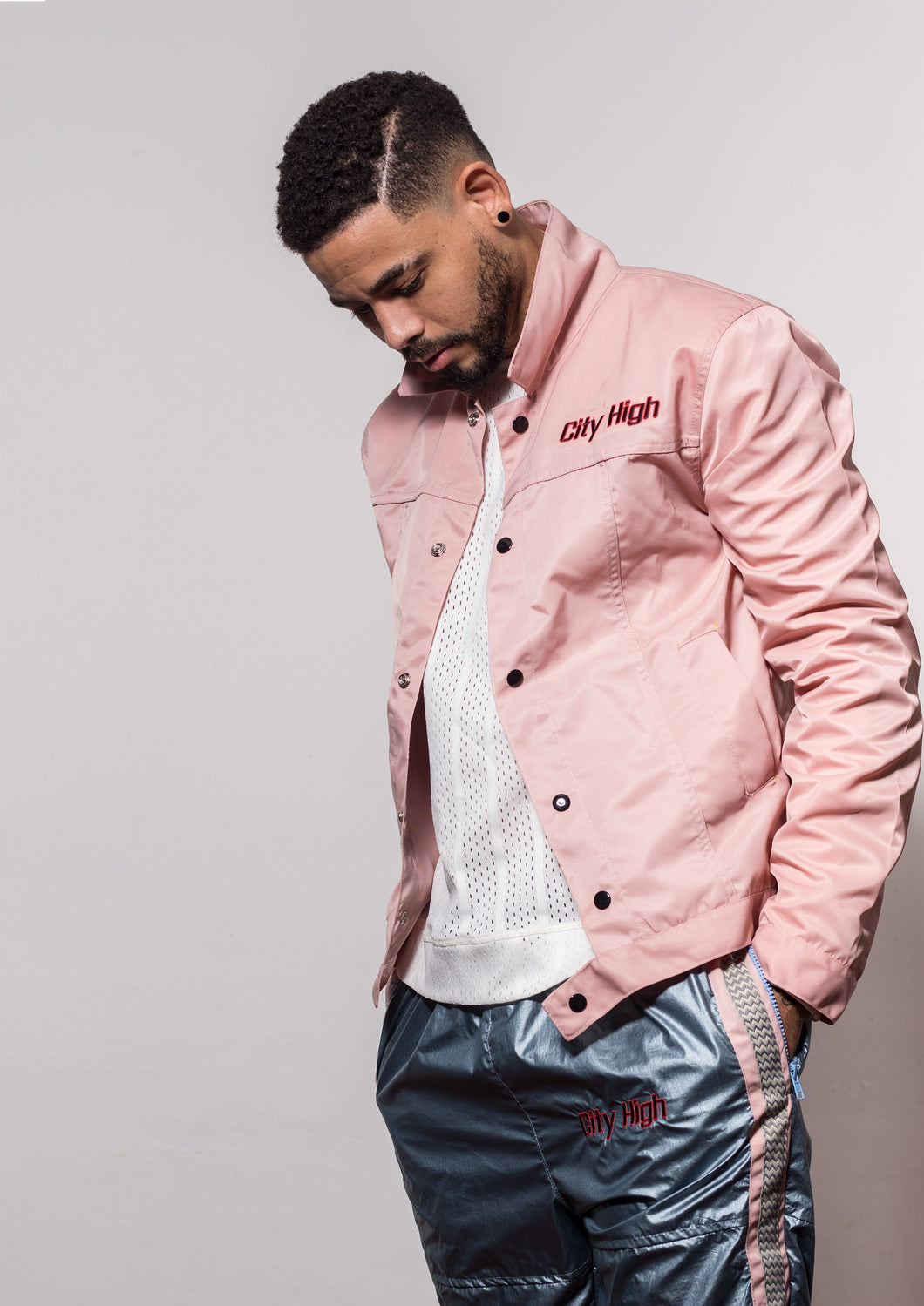[menswear The-Pink-Panther lightweight nylon jacket] - City High