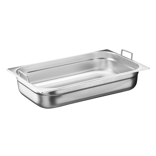 1/1 Stainless Steel Heavy Duty Gastronorm Container With Handle - Uk Catering Equipments