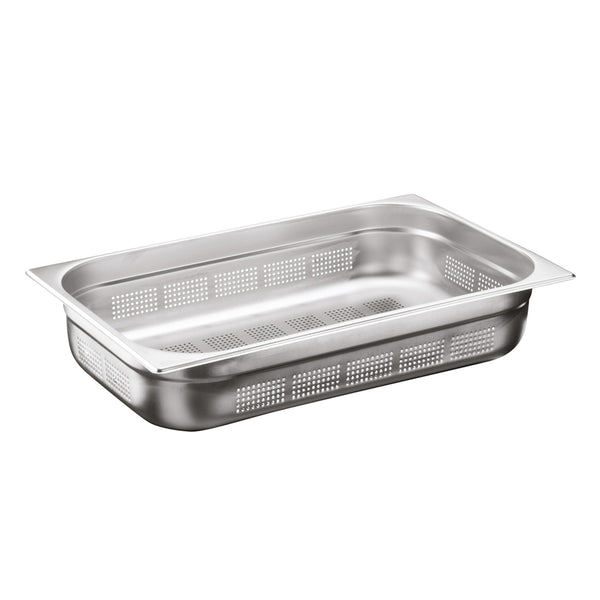 1/1 Stainless Steel Heavy Duty Perforated Gastronorm Container - Uk Catering Equipments