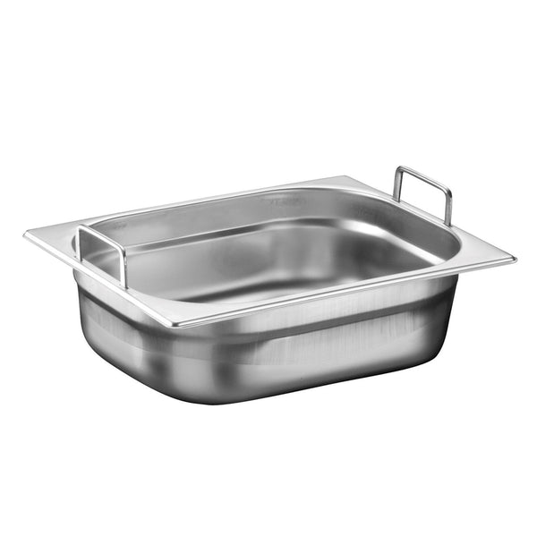 1/2 Stainless Steel Heavy Duty Gastronorm Container With Handle - Uk Catering Equipments