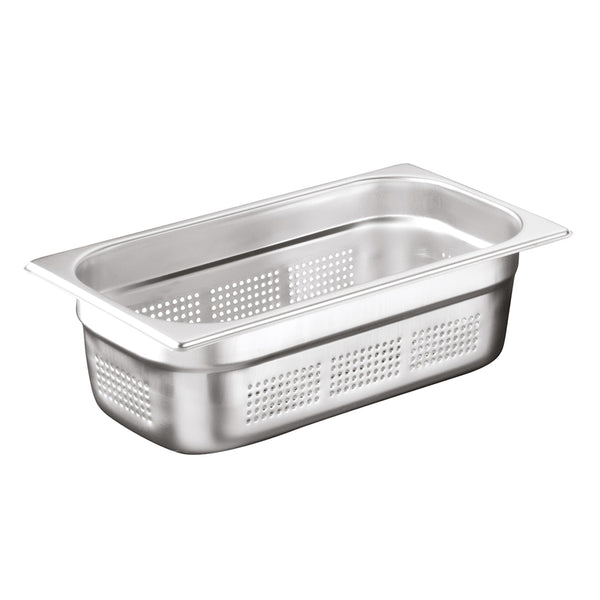 1/3 Stainless Steel Heavy Duty Perforated Gastronorm Container - Uk Catering Equipments