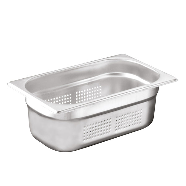 1/4 Stainless Steel Heavy Duty Perforated Gastronorm Container - Uk Catering Equipments
