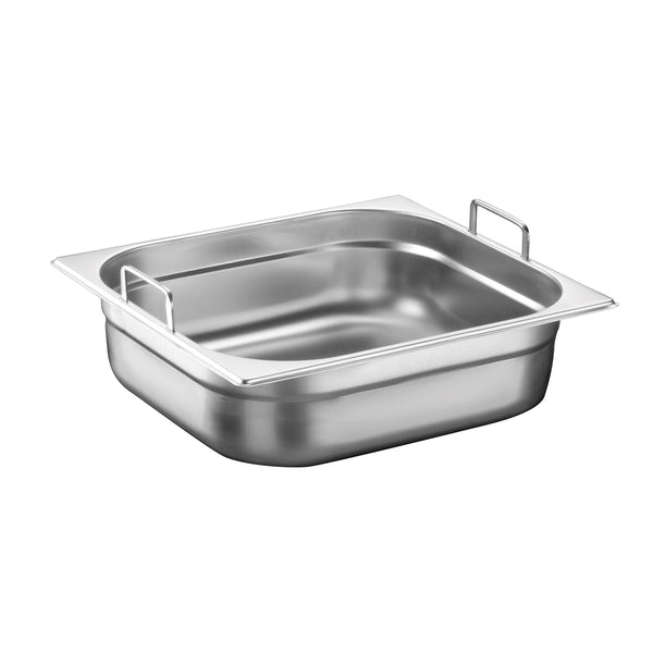 2/3 Stainless Steel Heavy Duty Gastronorm Container With Handle - Uk Catering Equipments